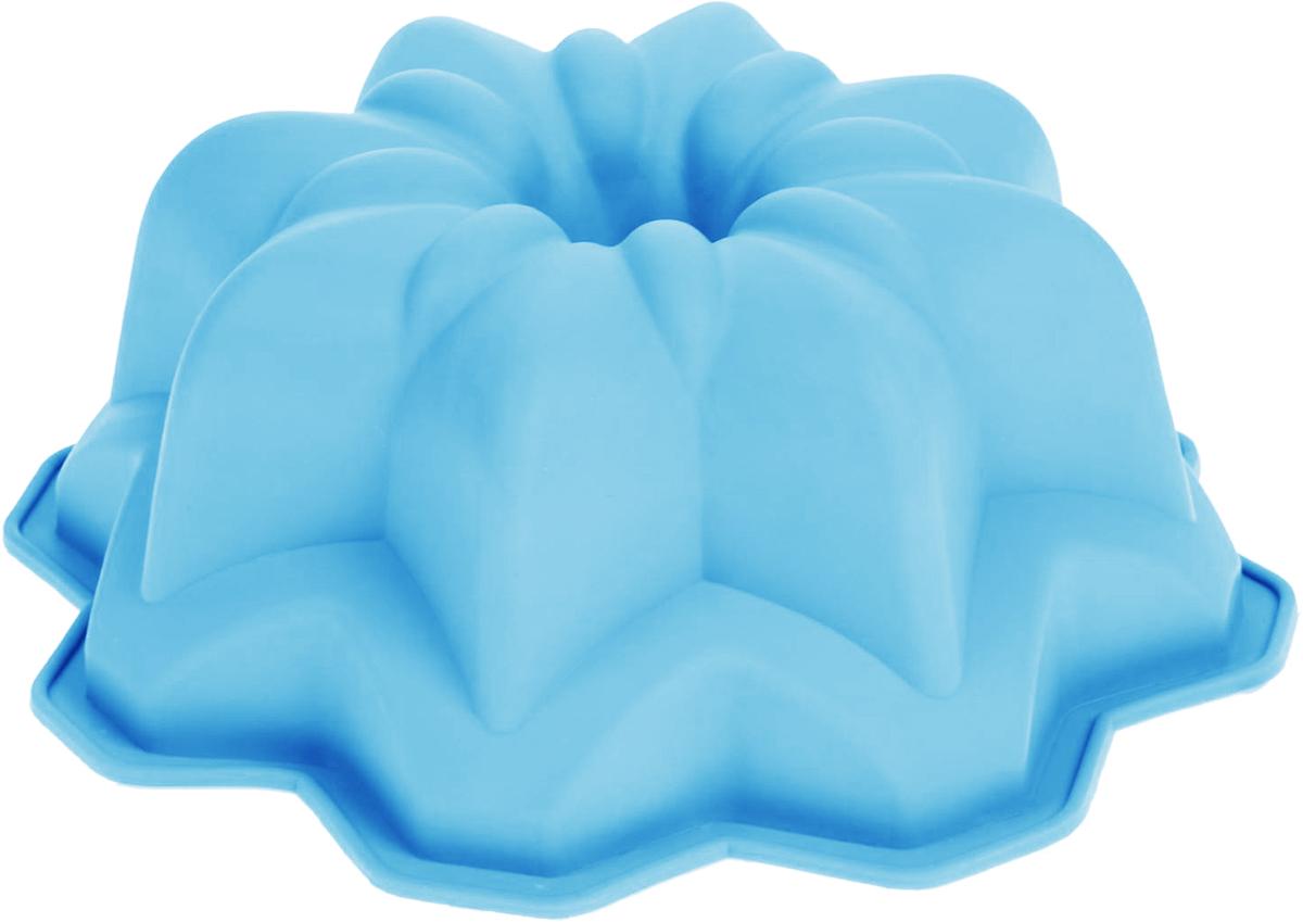 Форма для выпечки Доляна Мираж, цвет: голубой, 27 х 11 см651969_голубой