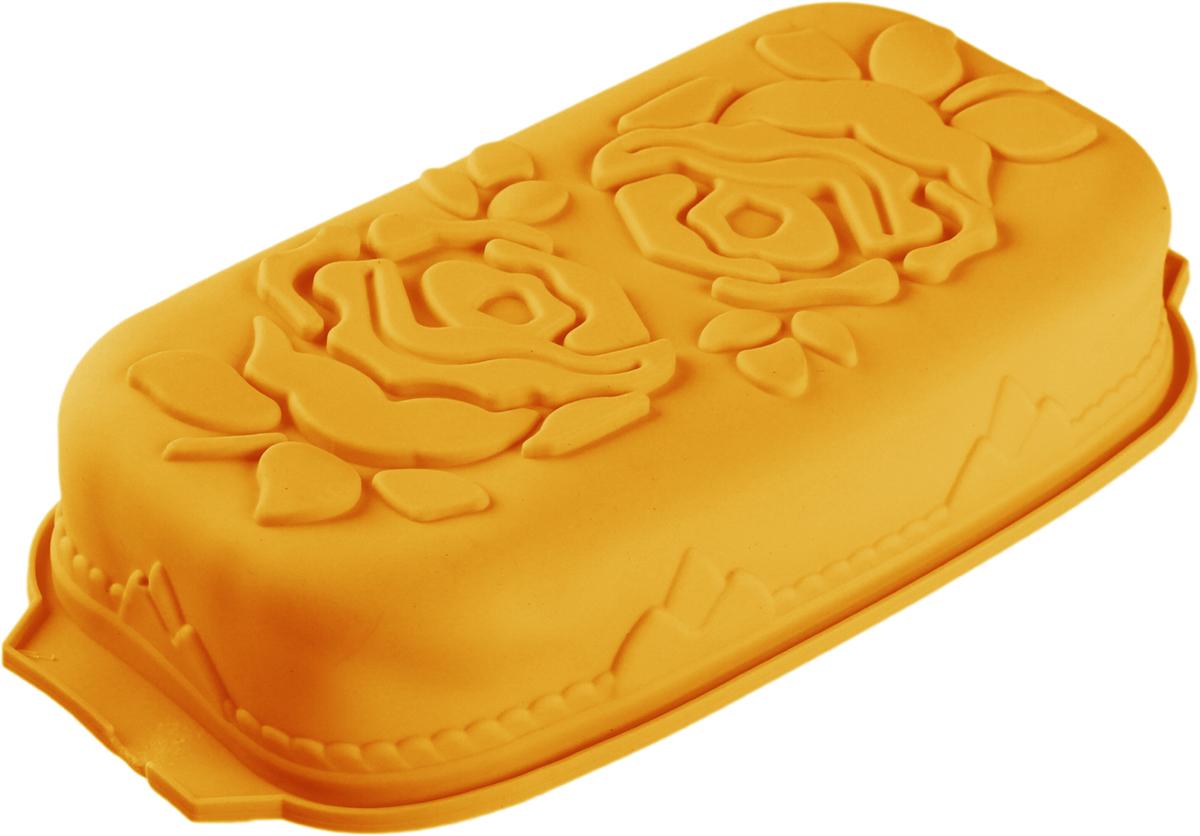 Форма для выпечки Доляна Большие цветы, цвет: оранжевый, 29,5 х 14 х 7 см630815_оранжевыйФорма для выпечки из силикона - современное решение для практичных и радушных хозяек. Оригинальный предмет позволяет готовить в духовке любимые блюда из мяса, рыбы, птицы и овощей, а также вкуснейшую выпечку.Почему это изделие должно быть на кухне?блюдо сохраняет нужную форму и легко отделяется от стенок после приготовления;высокая термостойкость (от -40 до 230 С) позволяет применять форму в духовых шкафах и морозильных камерах;небольшая масса делает эксплуатацию предмета простой даже для хрупкой женщины;силикон пригоден для посудомоечных машин;высокопрочный материал делает форму долговечным инструментом;при хранении предмет занимает мало места.Советы по использованию формыПеред первым применением промойте предмет тёплой водой.В процессе приготовления используйте кухонный инструмент из дерева, пластика или силикона.Перед извлечением блюда из силиконовой формы дайте ему немного остыть, осторожно отогните края предмета.Готовьте с удовольствием!