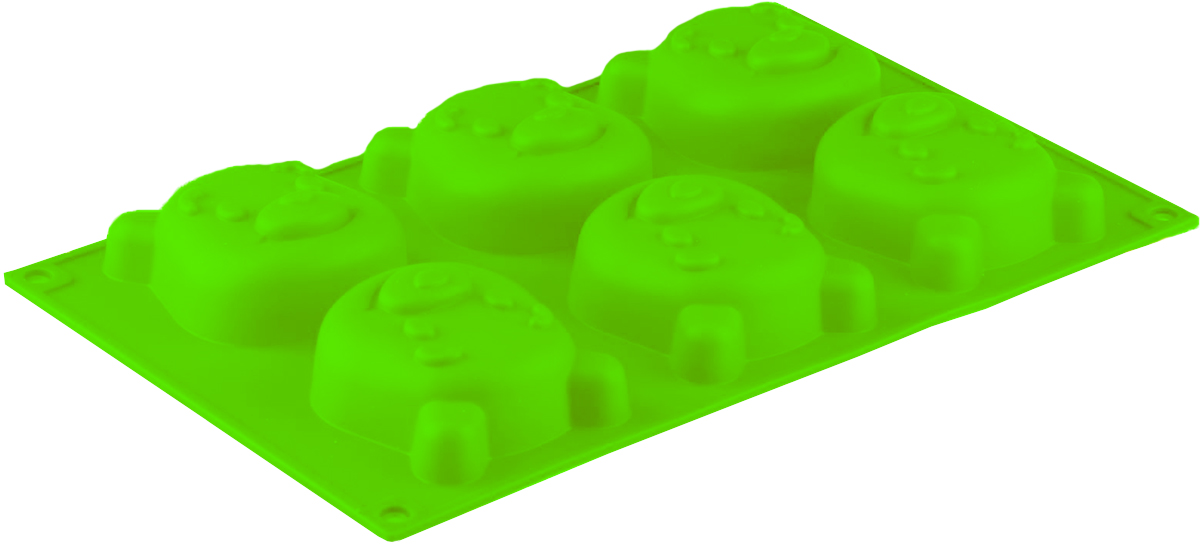 Форма для выпечки Доляна Мишутка, цвет: салатовый, 6 ячеек, 29 х 17 см811947Форма Доляна Мишутка выполнена из силикона, благодаря этому выпечкувынимать легко и просто. Материал устойчив к фруктовым кислотам, может бытьиспользован в духовках и микроволновых печах. Перед первым применениемпромойте предмет тёплой водой. В процессе приготовления используйте кухонный инструмент из дерева,пластика или силикона. Перед извлечением блюда из силиконовой формы дайте ему немного остыть,осторожно отогните края предмета. Готовьте с удовольствием!