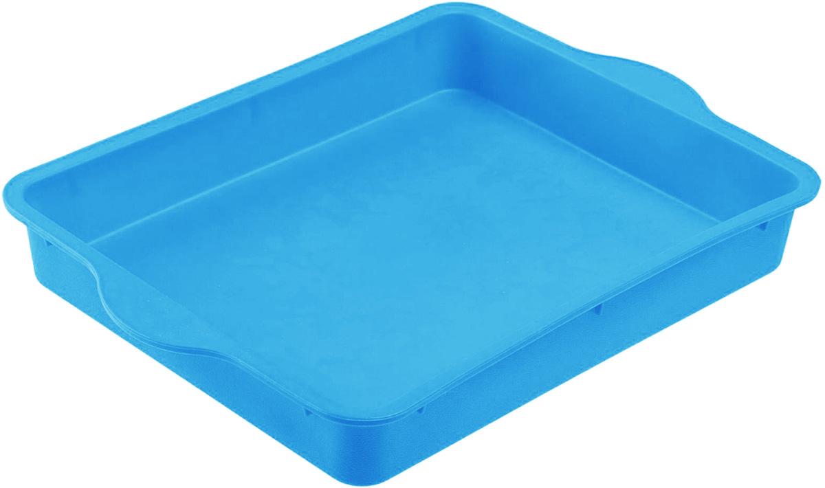 """Форма для выпечки Доляна """"Прямоугольная"""", цвет: голубой, 30 х 22 см"""