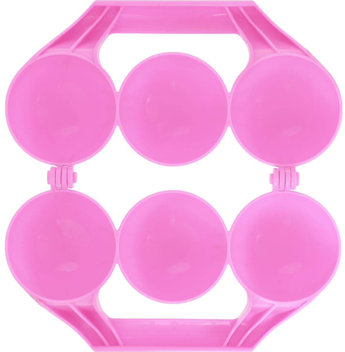 Зимние забавы Снежколеп 3 ячейки цвет розовый Зимние забавы