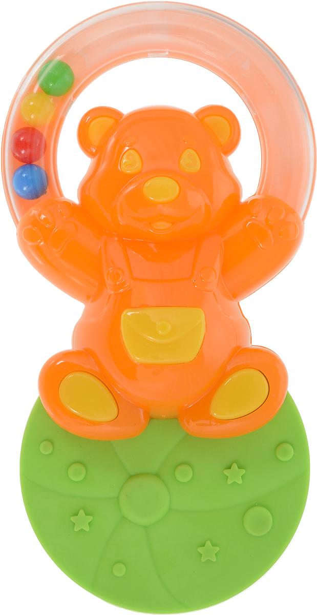 Stellar Погремушка-прорезыватель Жонглер Мишка цвет оранжевый