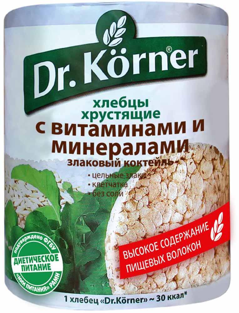 Dr. Korner Злаковый коктейль с витаминами и минералами хлебцы, 100 г посыпка dr oetker шоколадная 10 г