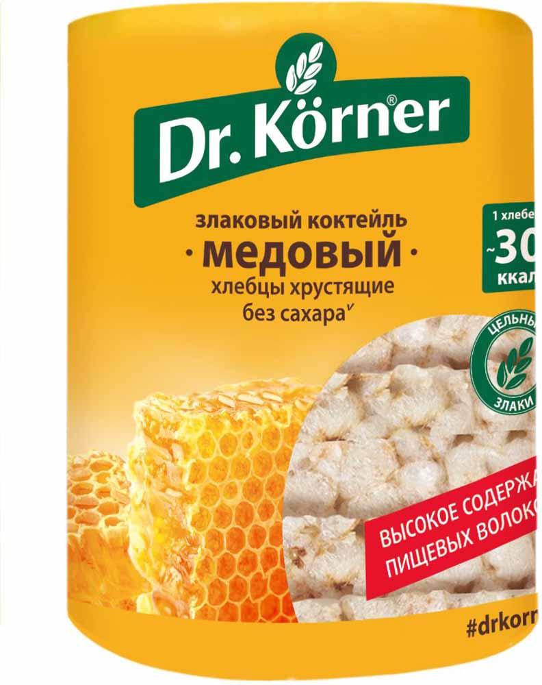 Dr. Korner Медовый злаковый коктейль хлебцы, 100 г corny milk cocoa батончик злаковый c молоком и какао 30 г