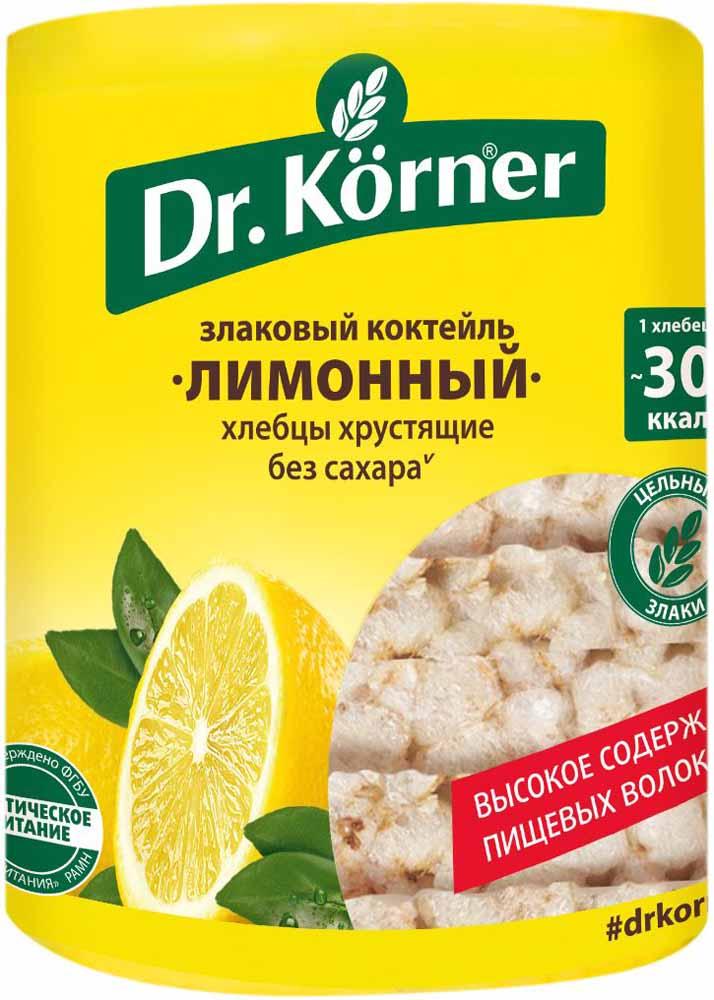 Dr. Korner Лимонный злаковый коктейль хлебцы, 100 г посыпка dr oetker шоколадная 10 г
