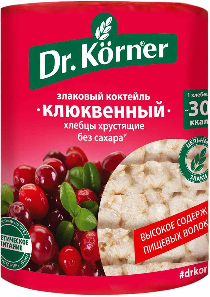 Dr. Korner Клюквенный злаковый коктейль хлебцы, 100 г dr oetker пикантфикс для огурцов 100 г