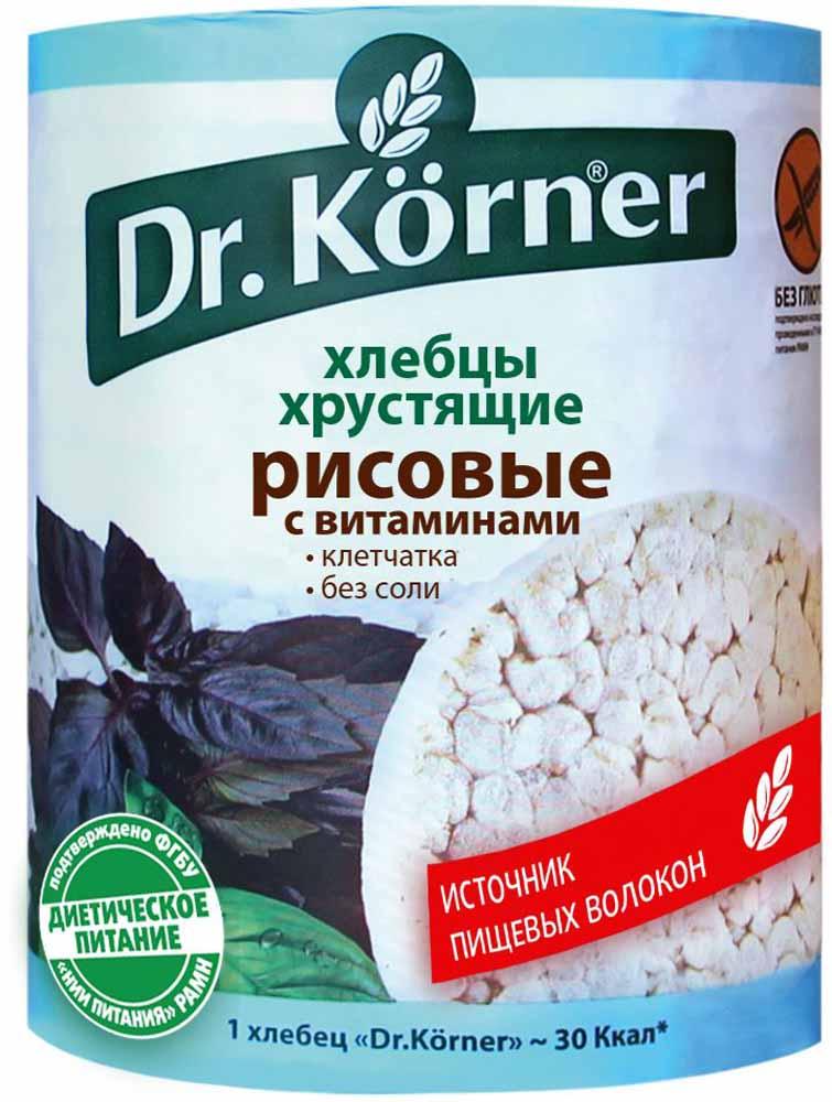 Dr. Korner Хлебцы рисовые с витаминами, 100 г хлебцы томатные
