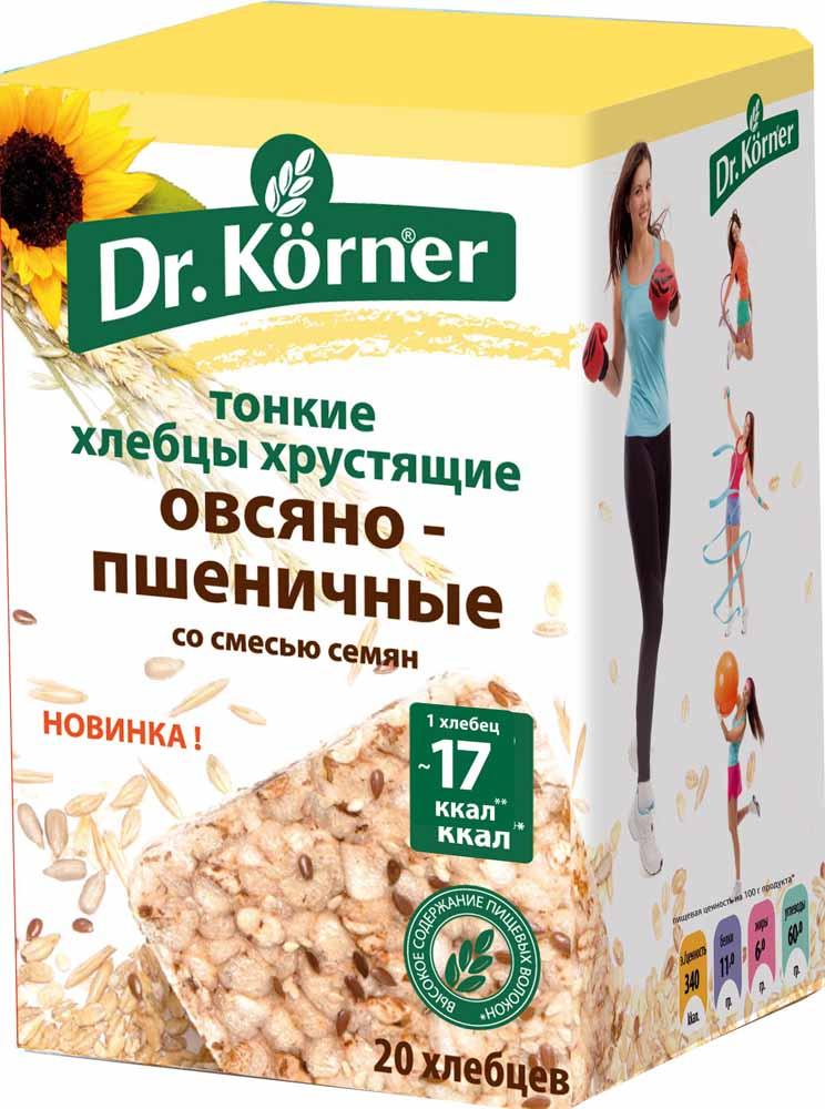 Dr. Korner Хлебцы овсяно-пшеничные со смесью семян, 100 г dr oetker пикантфикс для огурцов 100 г