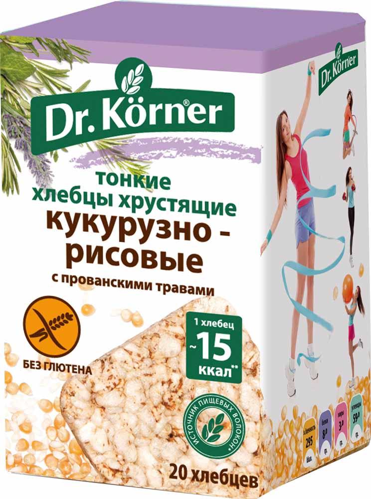 Dr. Korner Хлебцы кукурузно-рисовые с прованскими травами, 100 г ирис кф надежда сливочный 245г