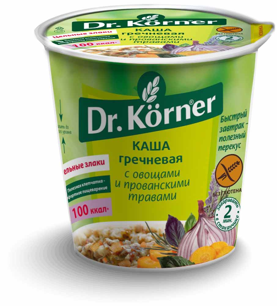 """Каша быстрого приготовления """"Гречневая"""", с овощами и прованскими травами - из 100 % цельных злаков, польза заключается в сохранении полезной клетчатки, обеспечивающей комфортное пищеварение. Яркий вкус без усилителей вкуса, ароматизаторов, красителей только за счет моркови, лука, прованских трав.Сытный, при этом легкий прием пищи, богатый долгими углеводами, обеспечивающими ощущение сытости."""