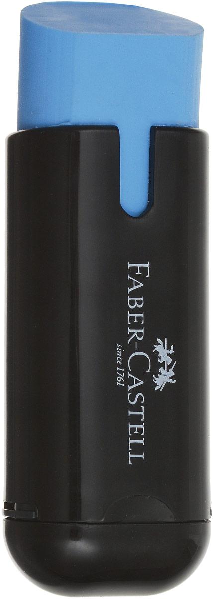 Faber-Castell Ластик с точилкой цвет голубой 183703183703_голубой- очень качественный ластик в защитномпластиковом футляре- не содержит фталаты- пригоден для графитных карандашей- однородный- отдельная упаковка каждого ластика в ППсо штрих кодом- не оставляет грязи, не портит бумагу