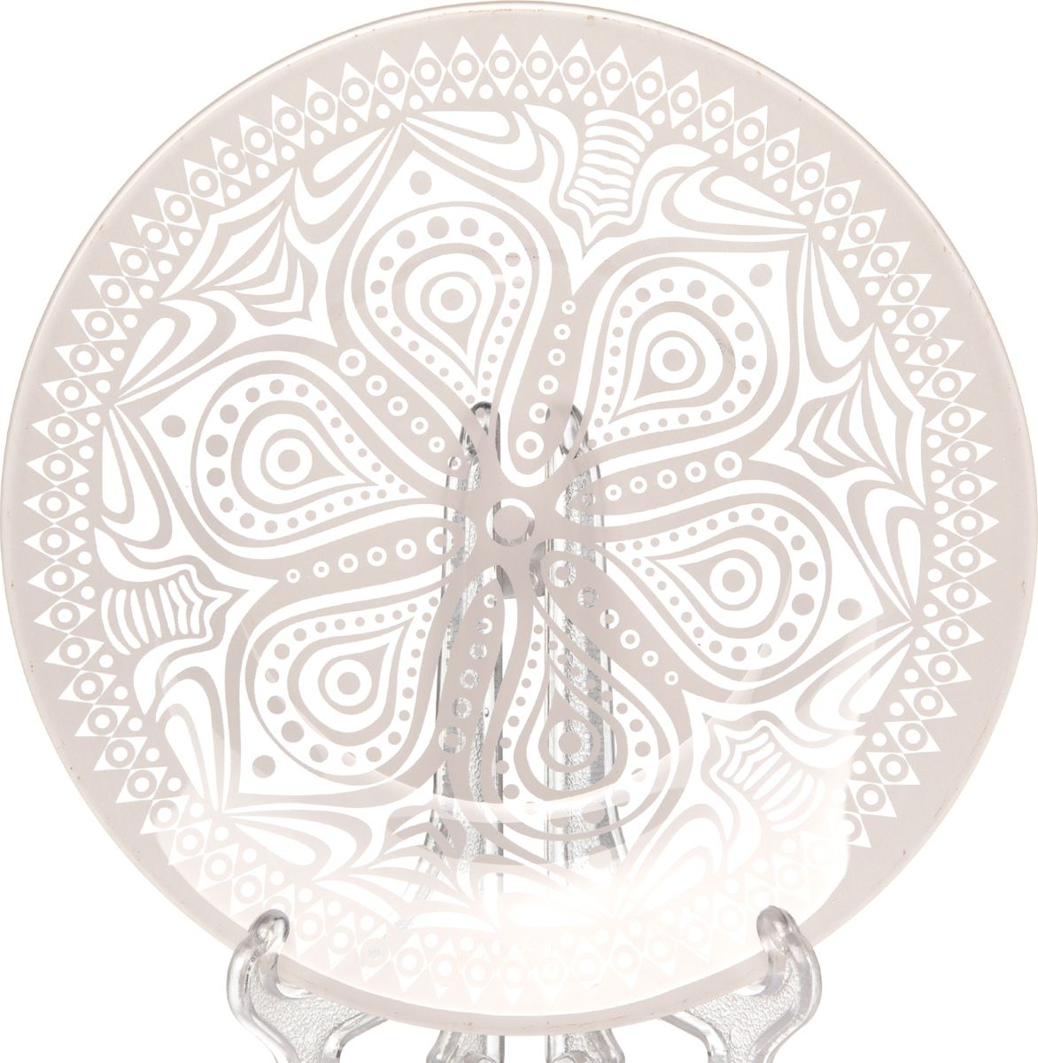 Тарелка Pasabahce БОХО, цвет: розовый, диаметр 19,5 см10327SLBD43Тарелка обеденная Pasabahce БОХО выполнена из качественного стекла.Изящная тарелка прекрасно оформит праздничный стол и порадует вас и ваших гостей изысканным дизайном и формой.