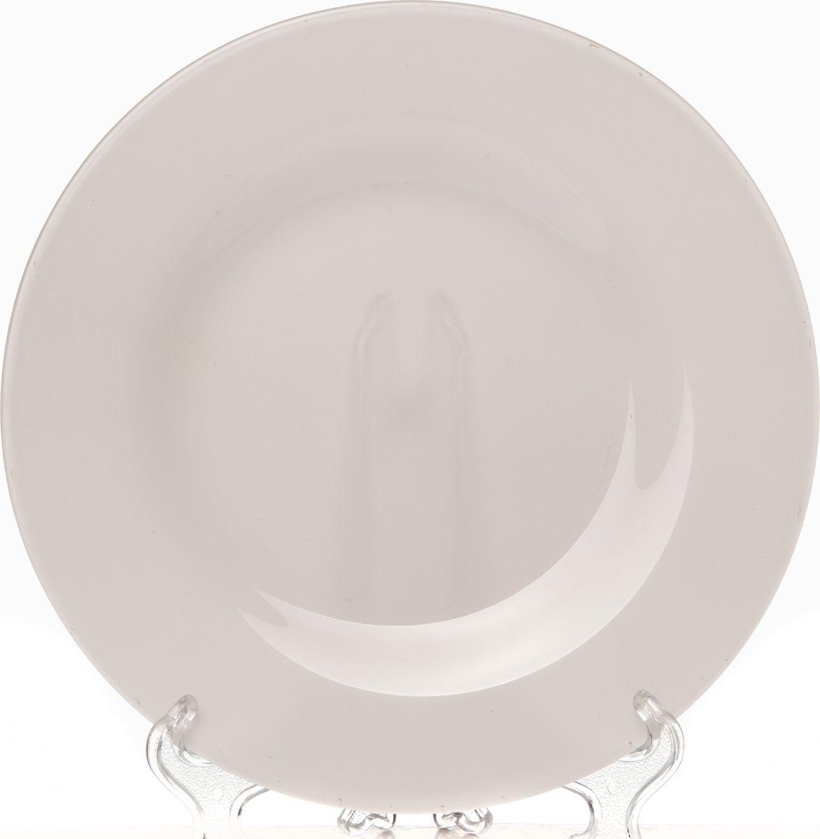 Тарелка Pasabahce БОХО, цвет: розовый, 26 см. 2881310328SLBD43Тарелка обеденная из упрочненного стекла розового цвета d=260 мм