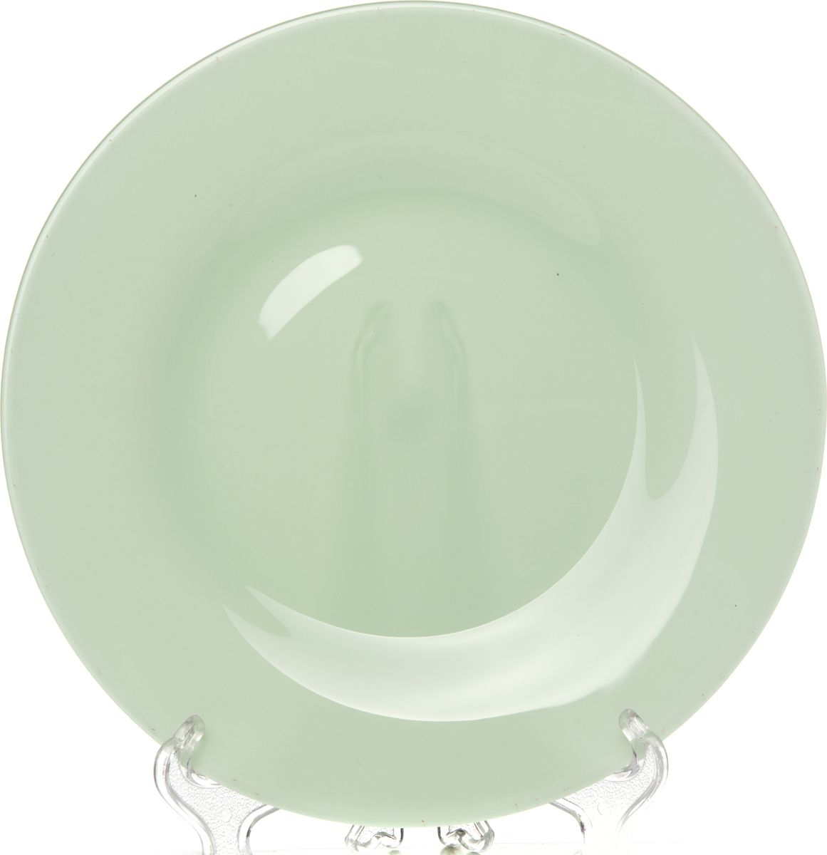 Тарелка Pasabahce Бохо, цвет: зеленый, 26 см. 2881510328SLBD45Тарелка обеденная из упрочненного стекла зеленого цвета d=260 мм