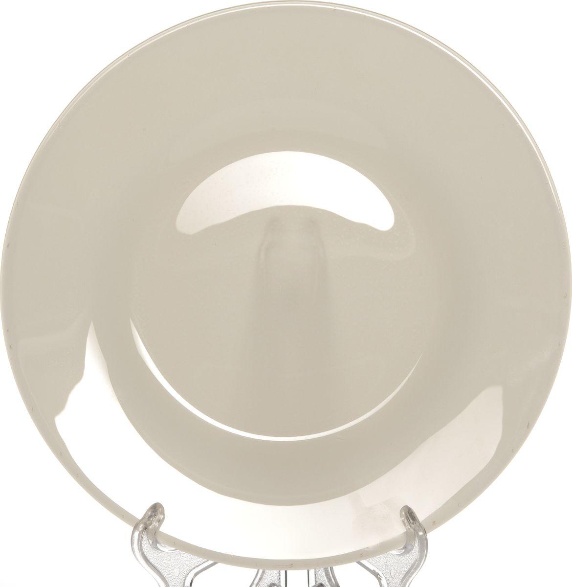 Тарелка Pasabahce БОХО, цвет: бежевый, диаметр 26 см10328SLBD46ТарелкаPasabahce БОХО выполнена из качественного стекла.Изящная тарелка прекрасно оформит праздничный стол и порадует вас и ваших гостей изысканным дизайном и формой.