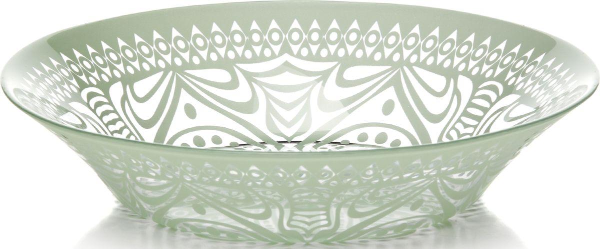 Тарелка глубокая Pasabahce БОХО, цвет: зеленый, 22 см. 31751/A