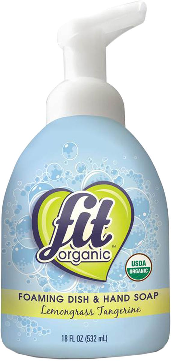 Пенка для мытья посуды и рук Fit Organic, органическая, лемонграсс и мандарин, 532 мл88162Органическая пенка для мытья посуды и рук — хорошо справляется с деликатной посудой, не раздражает и не сушит ваши руки, оставляя кожу нежной. Эффективная формула делает посуду блестящей. В отличие от других натуральных брендов, пенка не содержит синтетических моющих средств и искусственных ПАВ любого рода. Вместо этого мы производим органическое мыльное средство, так как это делалось сто лет назад. Средство предназначено для деликатной мойки (кружки, бокалы, нежирные тарелки) и не подходит для мытья жирной посуды.
