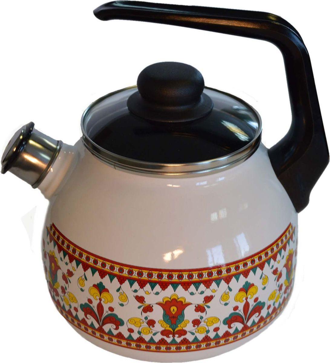 Чайник Appetite Карусель, со свистком, 3 л. 4с209я4с209яЧайник объем 3,0л со свистком Карусель материал: эмаль