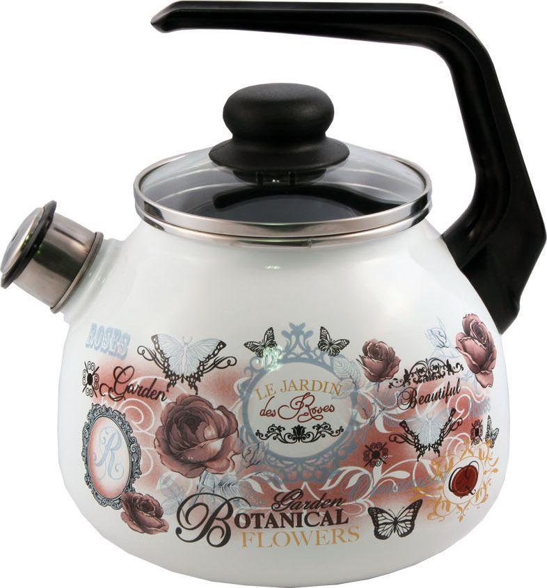 Чайник Appetite Roses, со свистком, 3 л. 4с209я4с209яЧайник со свистком Appetite изготовлен из высококачественного стального проката с эмалированным покрытием. Эмалированная посуда очень удобна в использовании, она практична и элегантна. За такой посудой легко ухаживать: чистить и мыть. Чайники с эмалированным покрытием обладают неоспоримым преимуществом: гладкая поверхность не впитывает запахи и препятствует размножению бактерий.Чайник оснащен удобной бакелитовой ручкой. Носик чайника имеет съемный свисток, звуковой сигнал которого подскажет, когда закипит вода.Подходит для использования на всех видах плит: электрических, газовых, стеклокерамических, индукционных.