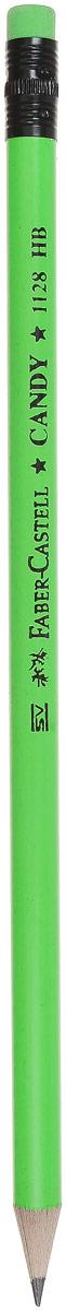 Faber-Castell Карандаш чернографитный Candy с ластиком цвет зеленый карандаш фонарик с ластиком