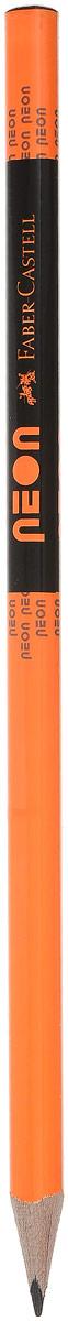 Faber-Castell Карандаш чернографитный Neon цвет оранжевый316200_оранжевыйЭргономичный чернографитный карандаш с ластиком из отборной древесины, твердость НВ. Специальная технология вклеивания (SV) предотвращает поломку грифеля. Ластик карандаша средней жесткости изготовлен из экологически чистого и гипоаллергенного материала термопластичной резины (TPR).