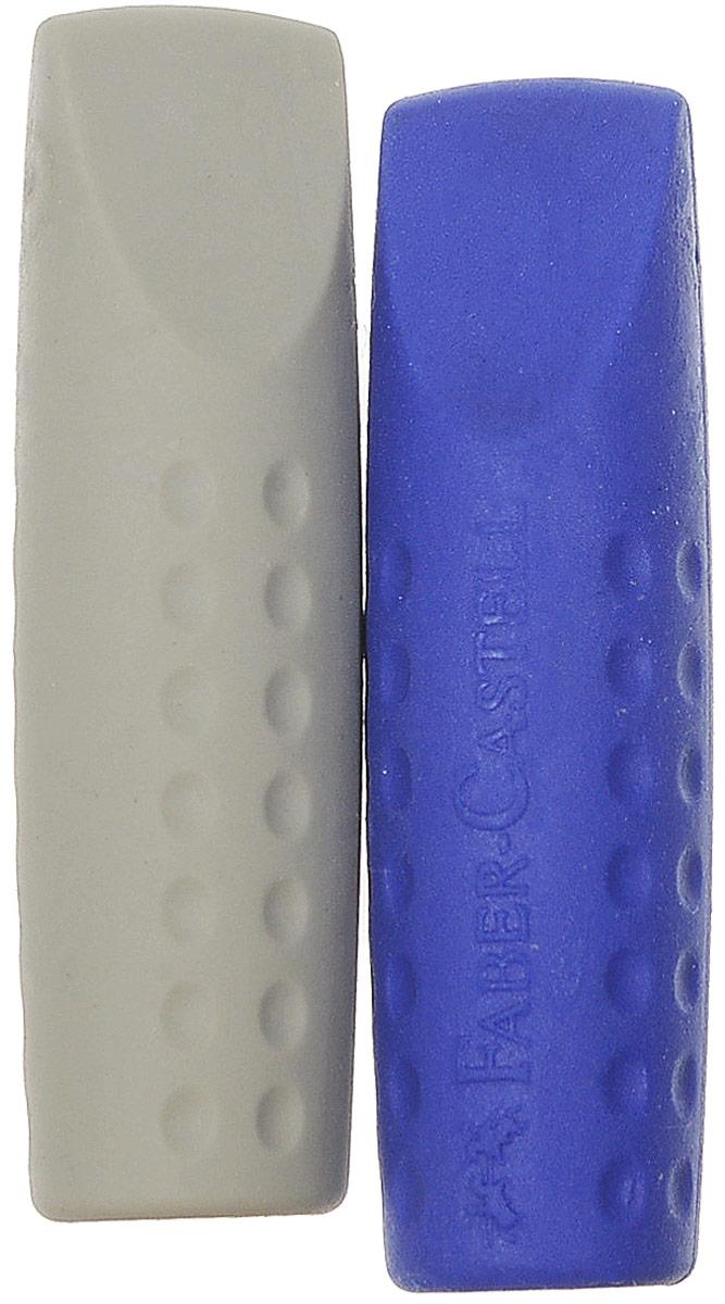 Faber-Castell Ластик-колпачок Grip 2001 цвет синий серый 2 шт187001_синий, серыйЛастик-колпачок Faber-Castell Grip 2001 изготовлен из винила без использования ПВХ. Ластик не оставляет следов на бумаге при стирании, а также может быть использован для защиты грифеля или для удлинения карандаша. В комплекте 2 ластика.
