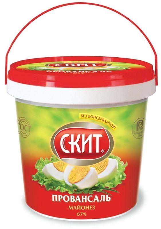 Скит Майонез Провансаль, 67%, 900 млСК218Майонез Скит Провансаль изготавливается одноименной российской компанией по традиционной рецептуре из натурального отборного сырья с незначительным добавлением подсолнечного и рапсового масла. Провансаль характеризуется плотной и густой консистенцией, обладает средней соленостью, подходит как приправа для вторых блюд и заправки салатов.Пищевая ценность: жиры 67 г, белки 0,8 г, углеводы 2,6 г.