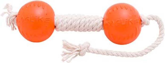 Игрушка для собак Doglike Канатная гантель, малая, цвет: белый, длина 50 см, диаметр 7 см игрушка doglike гантель большая канат желтый зеленый красный для собак d 2368ygr