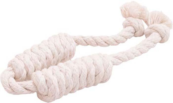 Игрушка для собак Doglike Канатная сарделька, двойная, большая, цвет: белый, длина 58 смD-2365-WИгрушка Doglike Канатная сарделька служит для массажа десен и очистки зубов от налета и камня, а также снимает нервное напряжение. Игрушка изготовлена из перекрученных хлопковых веревок. Она прочная и может выдержать огромное количество часов игры. Это идеальная замена косточке.Если ваш пес портит мебель, излишне агрессивен, непослушен или страдает излишним весом то, скорее всего, корень всех бед кроется в недостаточной физической и эмоциональной нагрузке. Порадуйте своего питомца прекрасным и качественным подарком.