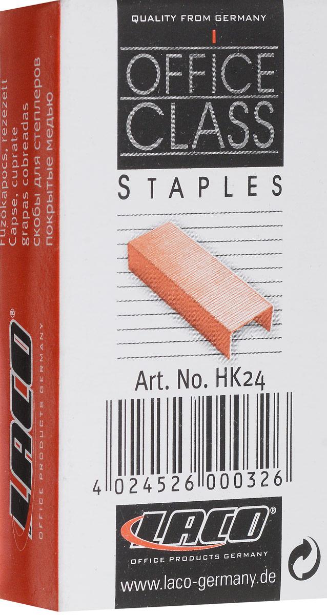 Laco Скобы для степлера №242611020000Омедненные заточенные скобы №24 для степлера, омедненные. Упакованы в картонную коробку по 1000 штук.Омедненные скобы являются более долговечными;Имеют значительно большую защиту от коррозии;Не оставляют следов на документах со временем;Имеют приятный золотистый оттенок;Придают документу дополнительный стильный акцент;Подходят ко всем популярным офисным степлерам.