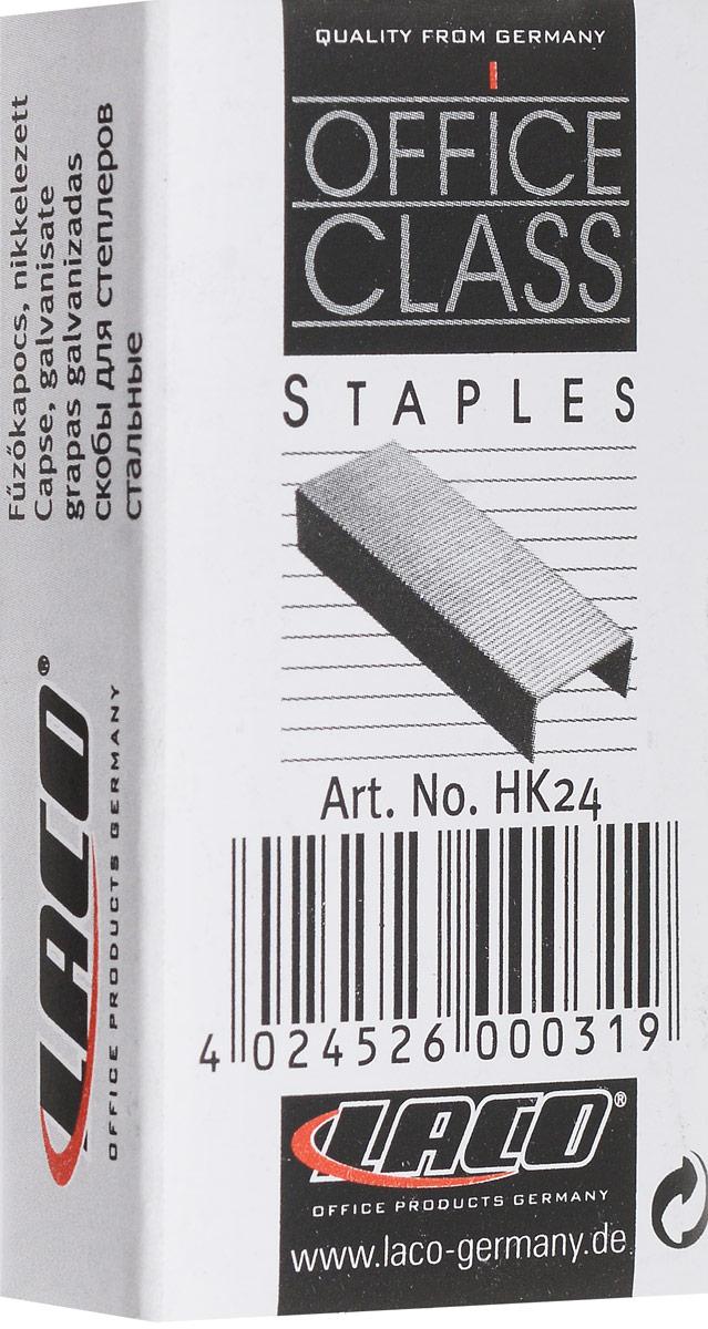 Laco Скобы для степлера №24/6 оцинкованные 1000 шт261101Оцинкованные заточенные скобы №24 для степлера. Упакованы в картонную коробку по 1000 штук.