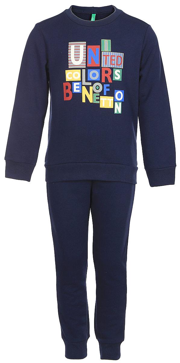 Пижама для мальчиков United Colors of Benetton, цвет: темно-синий. 3J67Z11KX_902. Размер 1103J67Z11KX_902
