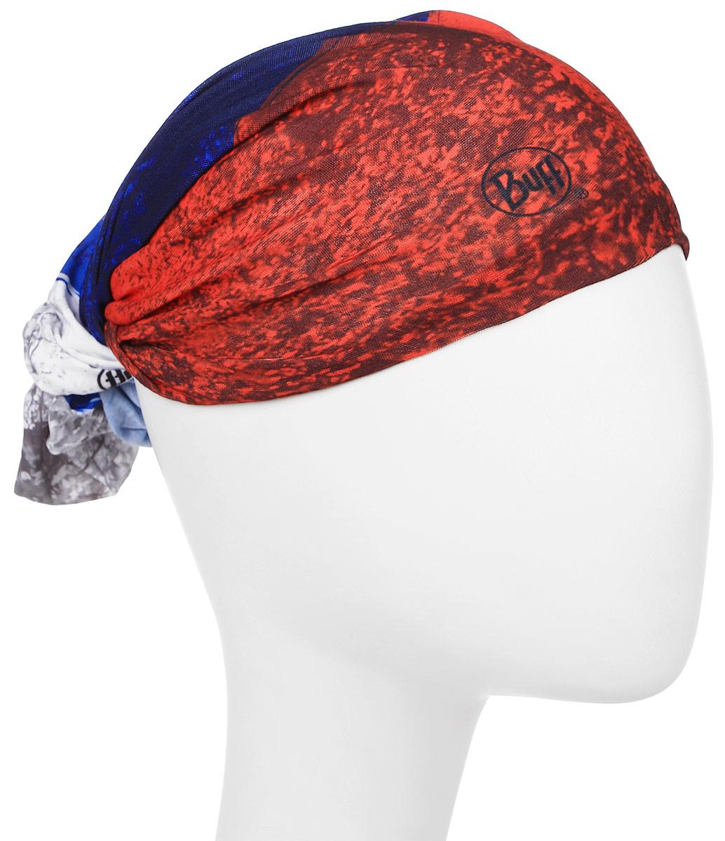 Бандана Buff Original, цвет: синий, красный. 116989.00. Размер универсальный116989.00Buff - это оригинальные, мультифункциональные, бесшовные головные уборы - удобные и комфортные для любого вида активного отдыха и спорта. Оригинальные, потому что Buff был и является первым в мире брендом мультифункциональных, бесшовных и универсальных головных уборов. Мультифункциональные, потому что их можно носить самыми разными способами: как шарф, как шапку, как балаклаву, косынку, бандану, маску, напульсник и многими другими - решает Ваша фантазия! Универсальный головной убор, который можно носить более чем двенадцатью способами, который можно использовать при занятии любым видом спорта, езде на велосипеде и мотоцикле, катаясь или бегая на лыжах, и даже как аксессуар в городской одежде. Бесшовные, благодаря эластичности, позволяющей использовать эти головные уборы как угодно и не беспокоиться о том, что кожа может быть натерта или раздражена швами.
