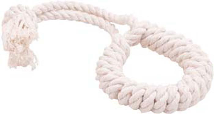 """Игрушка для собак Doglike """"Канатное кольцо"""", малое, цвет: белый, длина 26 см, диаметр 10 см"""