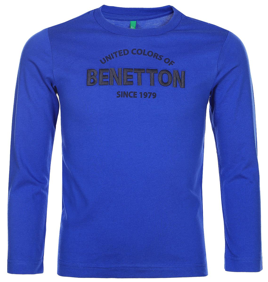 Лонгслив для мальчика United Colors of Benetton, цвет: синий. 3096C13GW_33M. Размер 1303096C13GW_33MЛонгслив для мальчика United Colors of Benetton выполнен из натурального хлопка. Модель с круглым вырезом горловины и длинными рукавами.