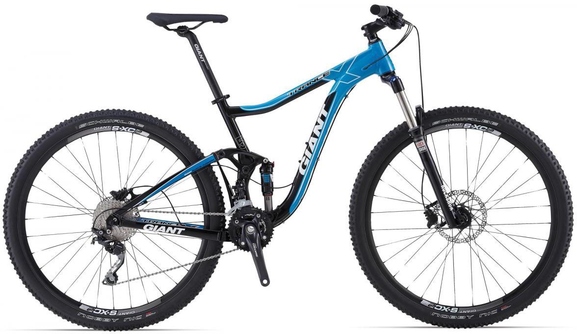 Велосипед горный Giant Trance X 2, двухподвесный, цвет: синий, рама 18, колесо, 29106940