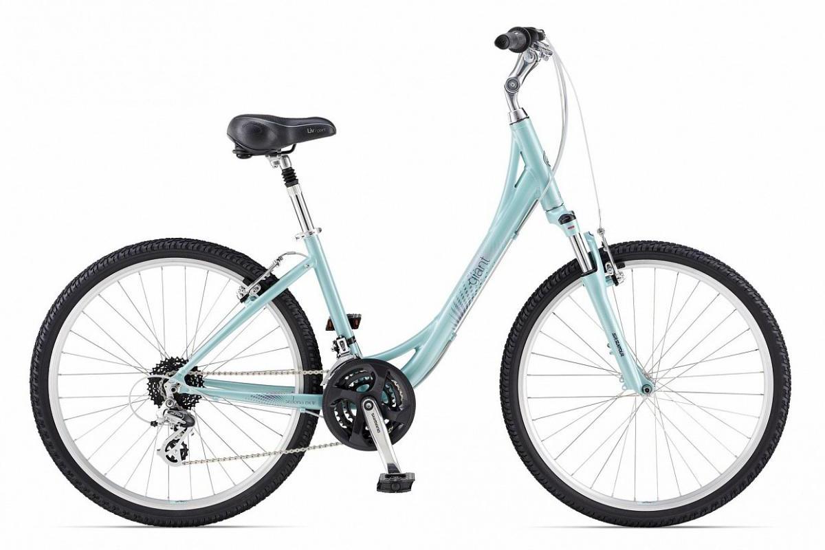 Велосипед женский Giant Sedona DX W 2014, цвет: голубой, рама 18, колесо 26. 107009107009