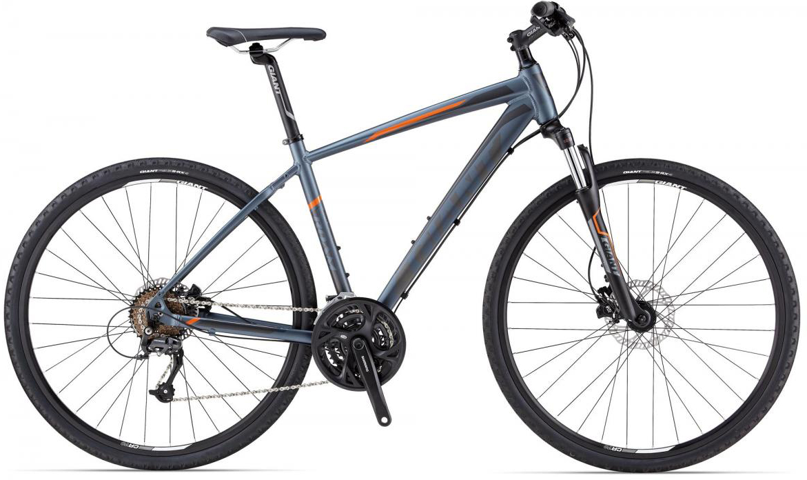 Велосипед городской Giant Roam 2 Disc, цвет: серый, рама 18, колесо 28107299