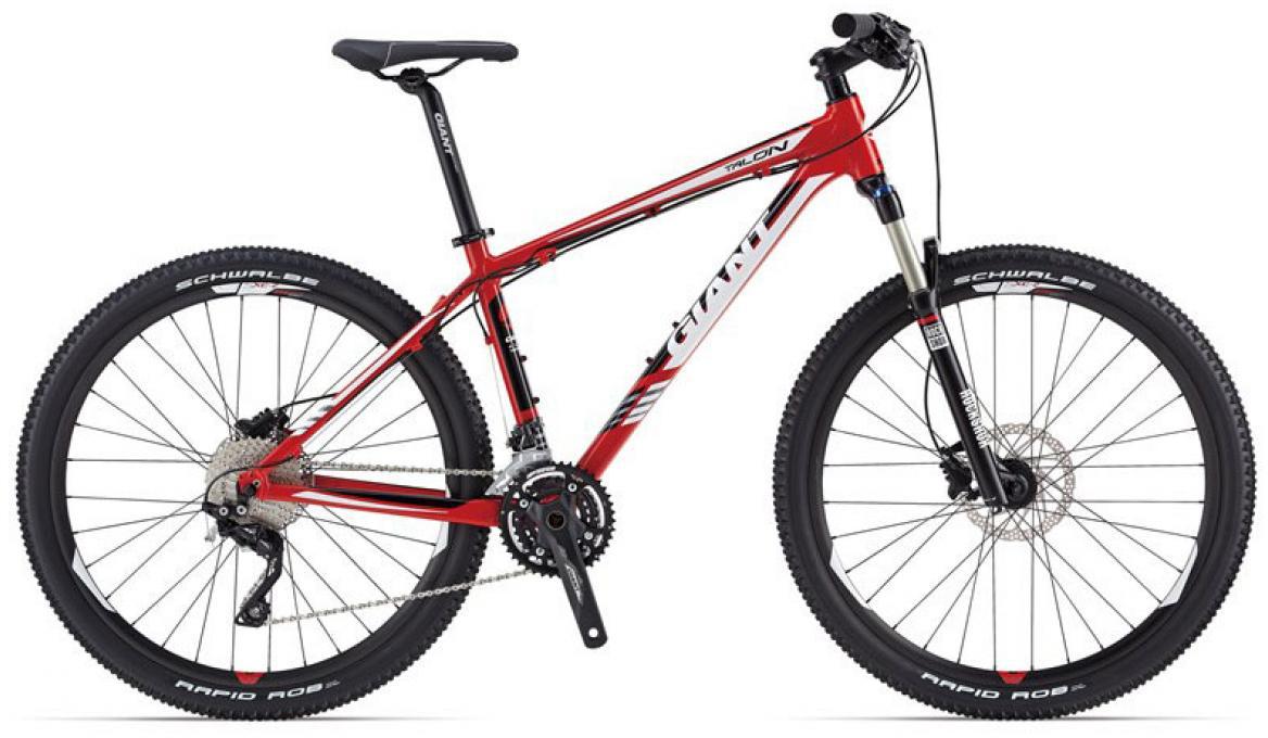 Велосипед горный Giant Talon 1, цвет: красный, рама 16, колесо, 27,5107374