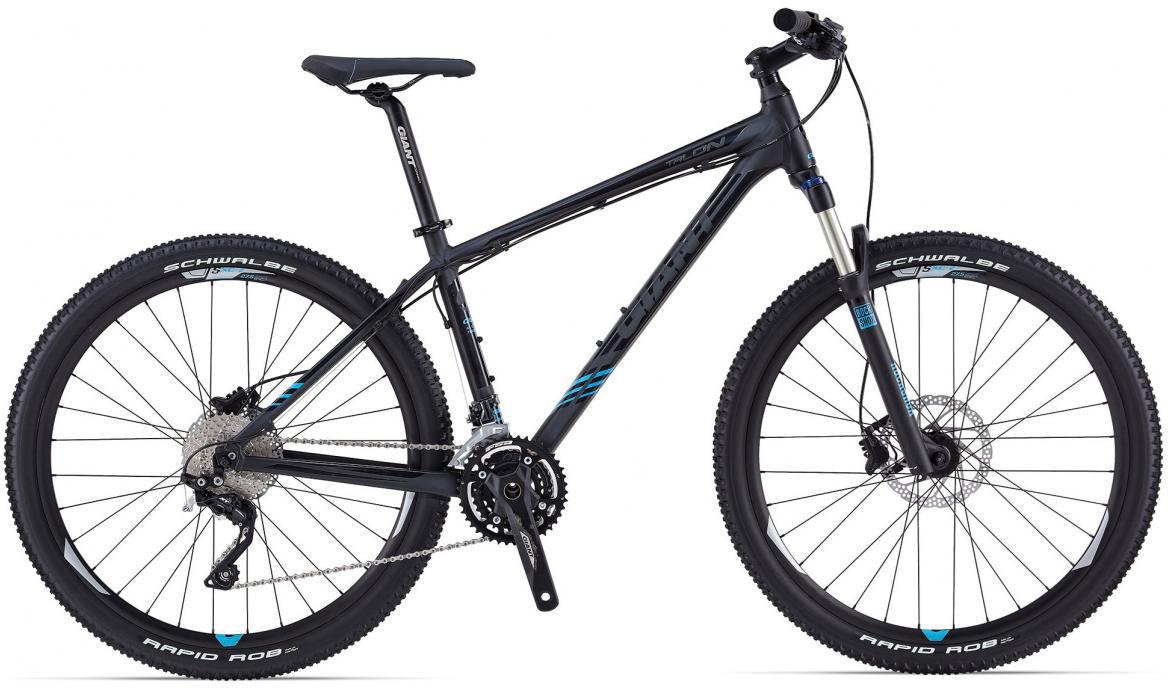 Велосипед горный Giant Talon 2, цвет: черный, колесо, 27,5107858
