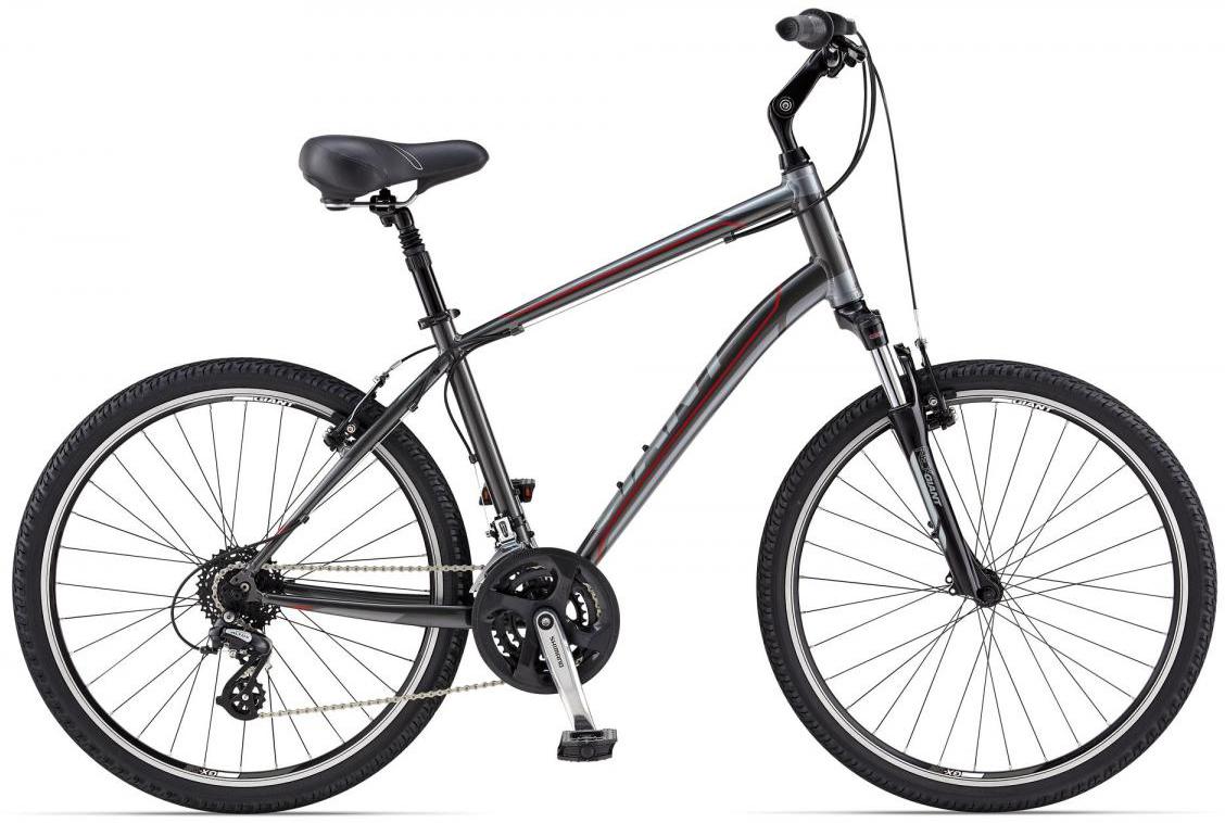 Велосипед городской Giant Sedona DX, цвет: серый, рама 18, колесо 26. 107912107912