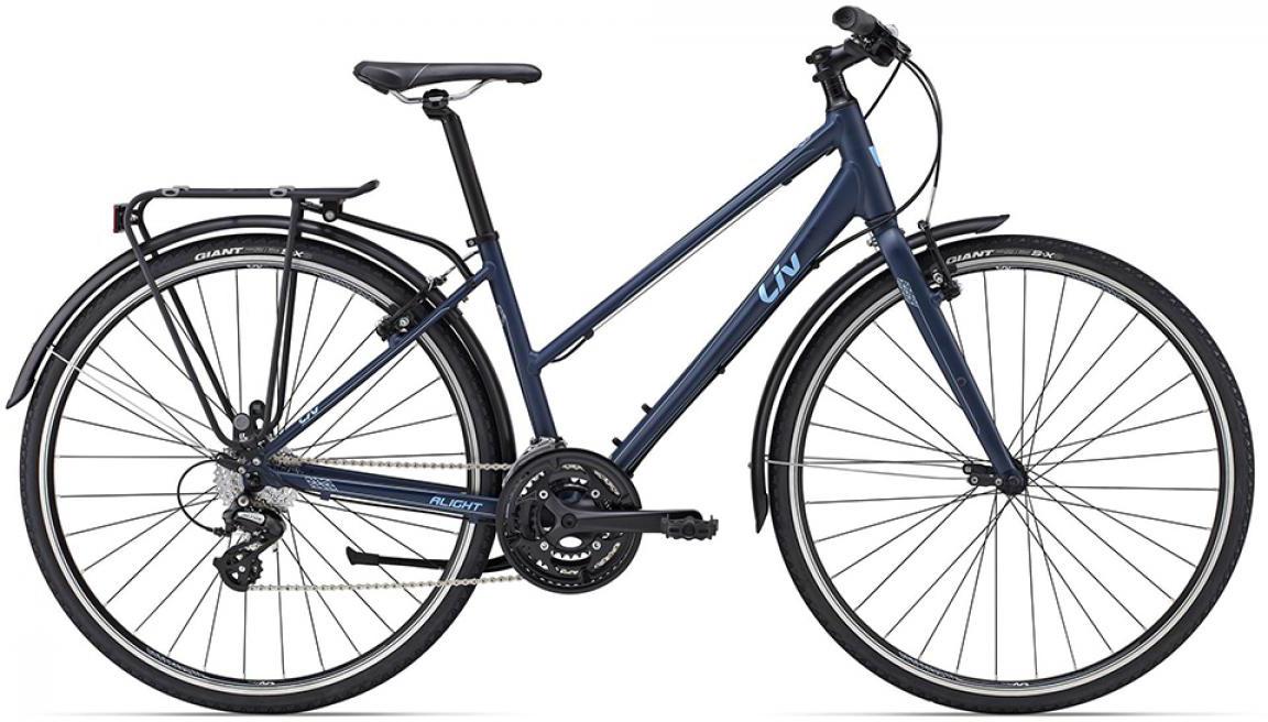 Велосипед женский Giant Alight 2 City 2015, цвет: синий, рама 18, колесо 28129496