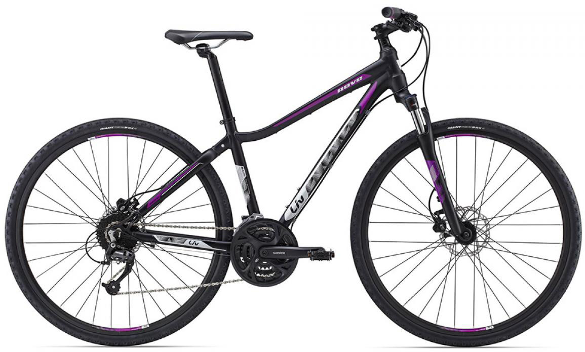 Велосипед городской Giant Rove 2 Disc DD 2015, цвет: черный, рама 18, колесо 28129529
