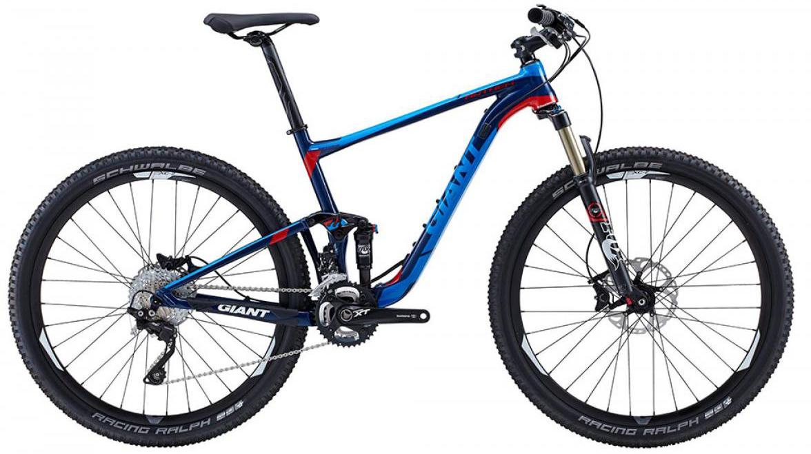 Велосипед горный Giant Anthem 1 2015, двухподвесный, цвет: синий, рама 18, колесо, 27,5129537