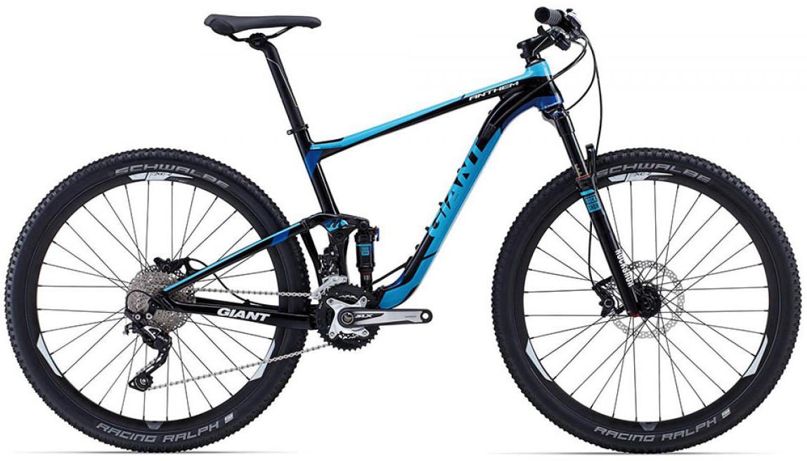 Велосипед горный Giant Anthem 2 2015, двухподвесный, цвет: черный, рама 16, колесо, 27,5129542