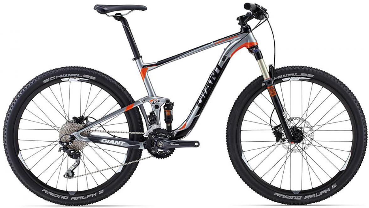 Велосипед горный Giant Anthem 3 2015, двухподвесный, цвет: серый, рама 18, колесо, 27,5129545