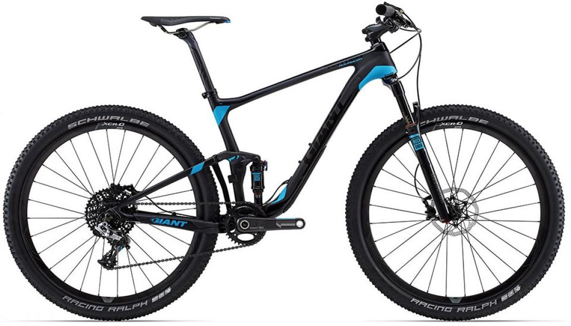 Велосипед горный Giant Anthem Advanced 2015, двухподвесный, цвет: черный, рама 16, колесо, 27,5129550