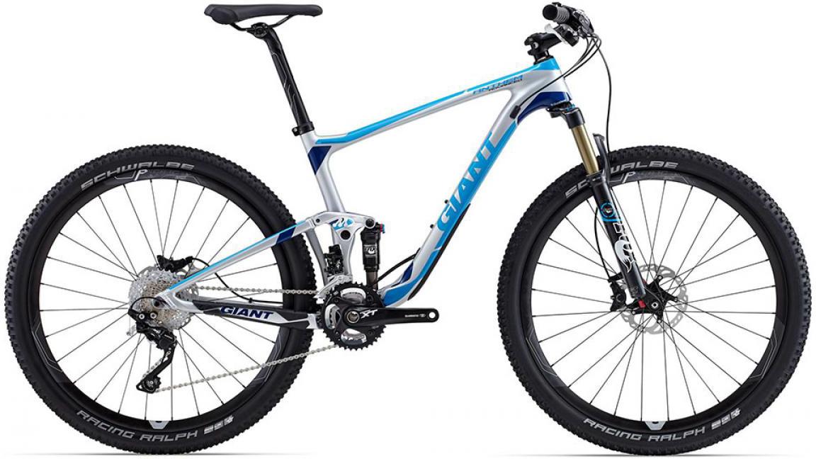 Велосипед горный Giant Anthem Advanced 1 2015, двухподвесный, цвет: серый, рама 22, колесо, 27,5129554