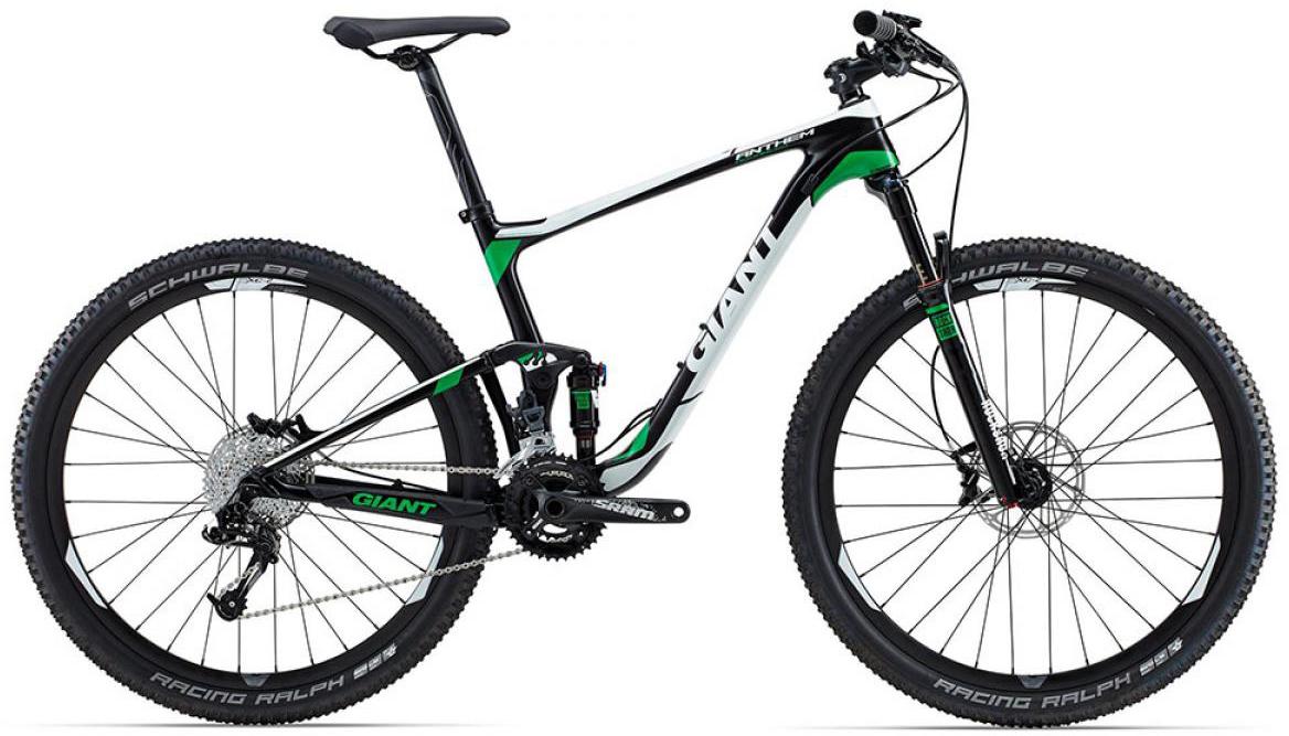 Велосипед горный Giant Anthem Advanced 2 2015, двухподвесный, цвет: черный, рама 22, колесо, 27,5129558