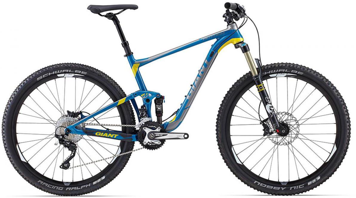 Велосипед горный Giant Anthem SX 2015, двухподвесный, цвет: синий, рама 16, колесо, 29129560